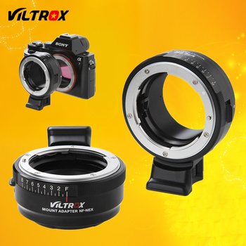 Viltrox NF-NEX Lens Adapter w/ Tripod Mount Aperture Ring for Nikon F AF-S AI G to Sony E Camera A9 A7SII A7RII NEX 7 A6500