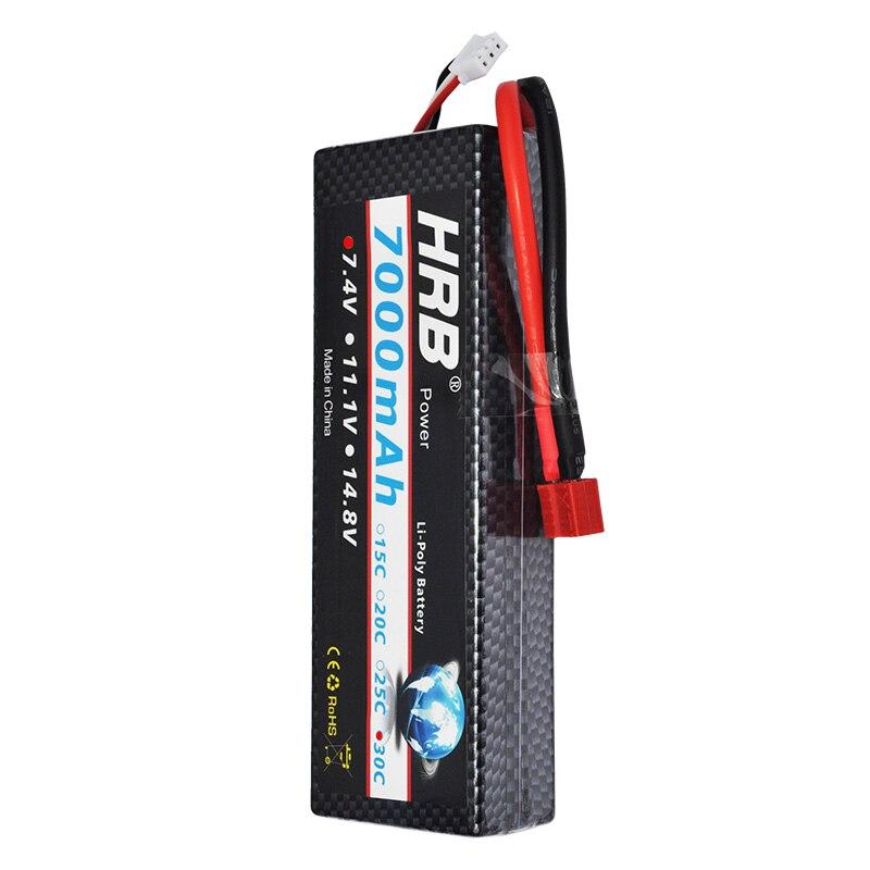 HRB RC battery Lipo 7 4V 7000mah 30C Max 60C 2S2P RC Lipo Battery hard case