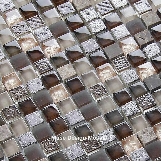 Retro Vintage Fiore di Cristallo di Vetro Mosaico per la cucina ...