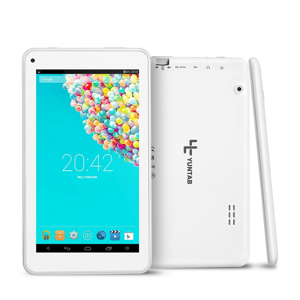Yuntab T7 tablet pc 7 inch bluetooth Android 4.4 touch screen 1024 x 600 Quad Core 1.5GHz with Dual Camera 2200mAh yuntab 7 inch e706 tablet pc dual camera quad core wifi bluetooth android 5 1 ips screen 1024 600 with2800mah battery 7 8 10
