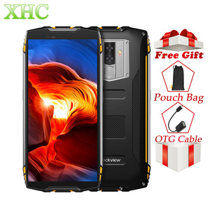 Image 1 - Blackview BV6800 برو 5.7 بوصة 4 جيجابايت 64 جيجابايت الهواتف الذكية الوجه إفتح أندرويد 8.0 ثماني النواة اللاسلكية شحن NFC المزدوج سيم الهواتف المحمولة
