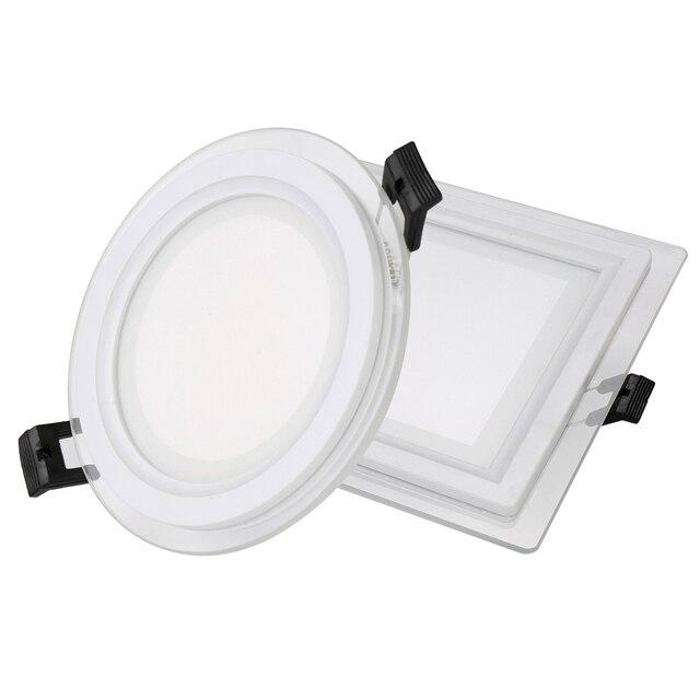 Led W9 Bord Lampe La Dimmable Pour W12 Rondcarré W Maison Verre Panneau Lumière 6 Spot Encastré W18 Plafonnier À 6IYbfvg7y