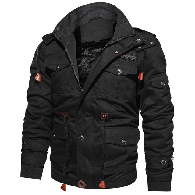 2020 Jacket Men Thick Warm Military Bomber Tactical Jackets Mens Outwear Fleece Breathable Hooded Windbreaker Coats 5XL Clothes 3