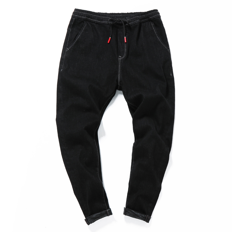 Suche Nach FlüGen Neue Mode Hohe Qualität Kleine Bein Harem Denim Jeans Hosen Männer Skateboard Hip Hop High Street Casual Cowboy Hosen A6027 QualitäT Zuerst