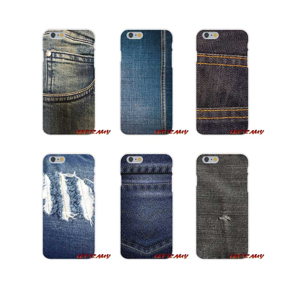 Vintage Denim Cowboy Jean Für iPhone X XR XS MAX 4 4 S 5 5 S 5C SE 6 6 S 7 8 Plus ipod touch 5 6 Zubehör Phone Cases Covers