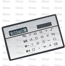 8 Digits Ultra Mini Slim Credit Card Size Solar Power Calculator Small Pocket