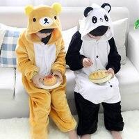 Girls Cute Easily Bear Panda Pajamas Warm Autumn Winter Homewear Children S Pajamas Cartoon Animal Onesies