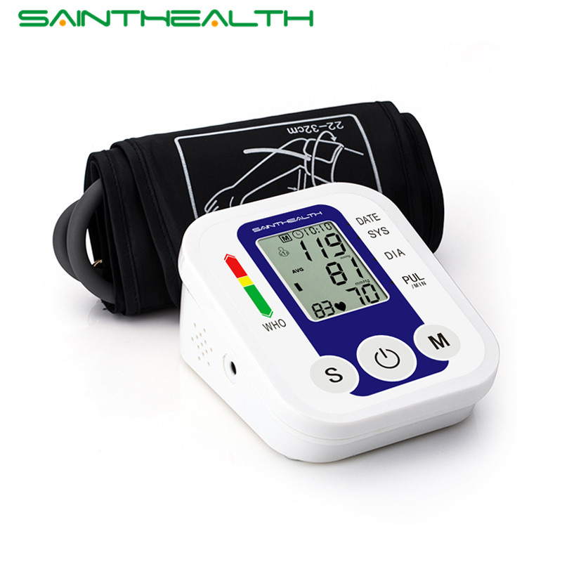 Arm Blood <font><b>Pressure</b></font> Pulse Monitor Health Care Monitors Digital Upper Portable Blood <font><b>Pressure</b></font> Monitor Meters Sphygmomanometer