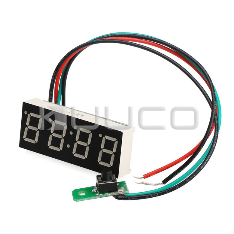 24-hour Digital Clock Green Led display Digital Meter/Panel Meter Adjustable Car Clock DC 12V 24V DIY Time Monitor/Tester 24 hour digital clock yellow led display car clock digital meter panel meter adjustable clock dc 12v 24v diy time monitor tester