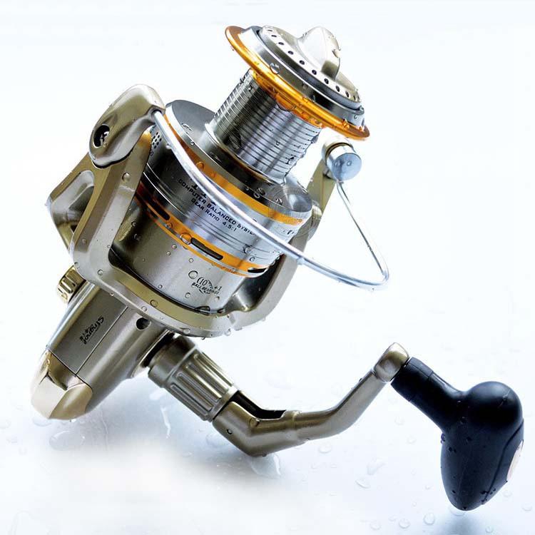 Cheap 1000-11000 Series Spinning Fishing Reel Saltwater 11 Bearing Trolling Sea Surf Casting Reels Low Profile Wheel China  (12)