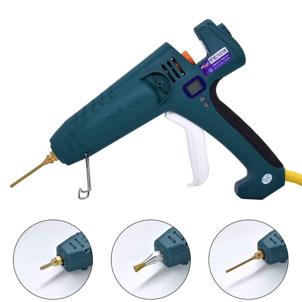 Hot Melt Glue Gun 500W High Power Industrial Manufacture Thermostat Temperature Adjustable Digital Display use 11mm