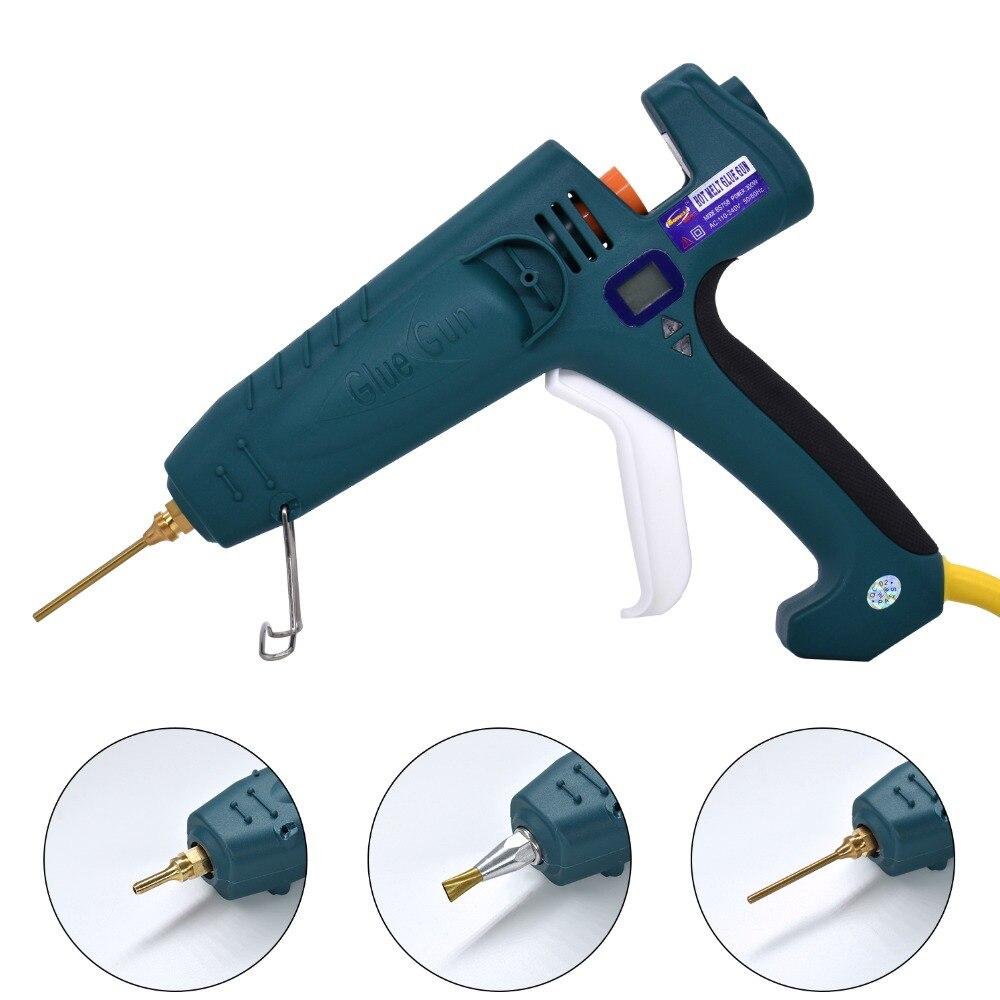 Pistolet à colle thermofusible 500W haute puissance fabrication industrielle Thermostat température réglable affichage numérique utilisation 11mm bâton de colle