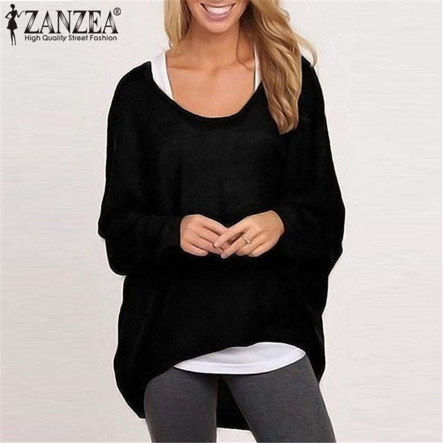 Online Shop ZANZEA Plus Size S-3XL Women Sweater Pullover 2019 Spring Long  Sleeve Jumpers Knit Pull Femme Blusas Camisa Solid Tops 9 Colors  8ce68e752