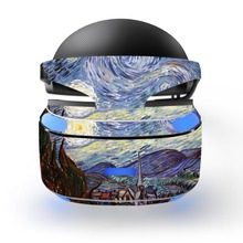 van Gogh The Starry Night decal PSVR Skin Sticker for Sony Playstation PS VR Headset