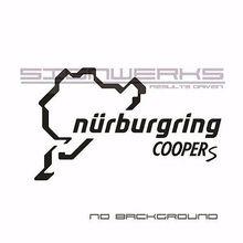 Mini Cooper S Nurburgring Decal Sticker logo font b emblem b font