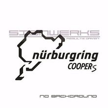 Mini Cooper S Nurburgring Decal Sticker logo emblem