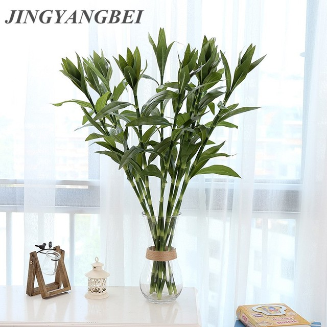 1PCS New Green Lucky Bamboo Artificial Plants Office Hotel / Home Wedding  Party Dining Table DecorationSimulated
