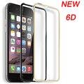 защитное стекло 6D закаленное Стекло для iphone 6 Стекло для iphone X 6s 7 8 плюс Стекло Экран протектор полная изогнутый Титан границы 9 H для iphone 7 - фото