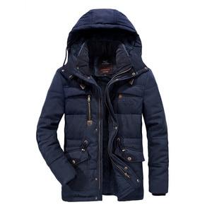 Image 1 - Mannen Winter Jas Plus Size 6XL, 7XL ,8XL Dikke Warme Parka Fleece Fur Hooded Militaire Jas Jas Zakken Windjack Mannen