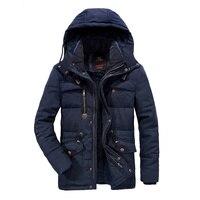 Mannen Winter Jas Plus size 6XL 7XL 8XL Dikke Warme Parka Fleece Fur Hooded Militaire Jas Jas Zakken Windjack mannen