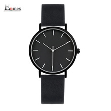 2017 Enmex cool style lady wristwatch Brief vogue simple stylish Black and white face Matte texture quartz clock fashion watch