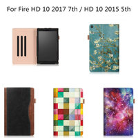 Business PU Leather Case For Amazon Kindle New Fire HD 10 2017 7th Generation Protective Cover
