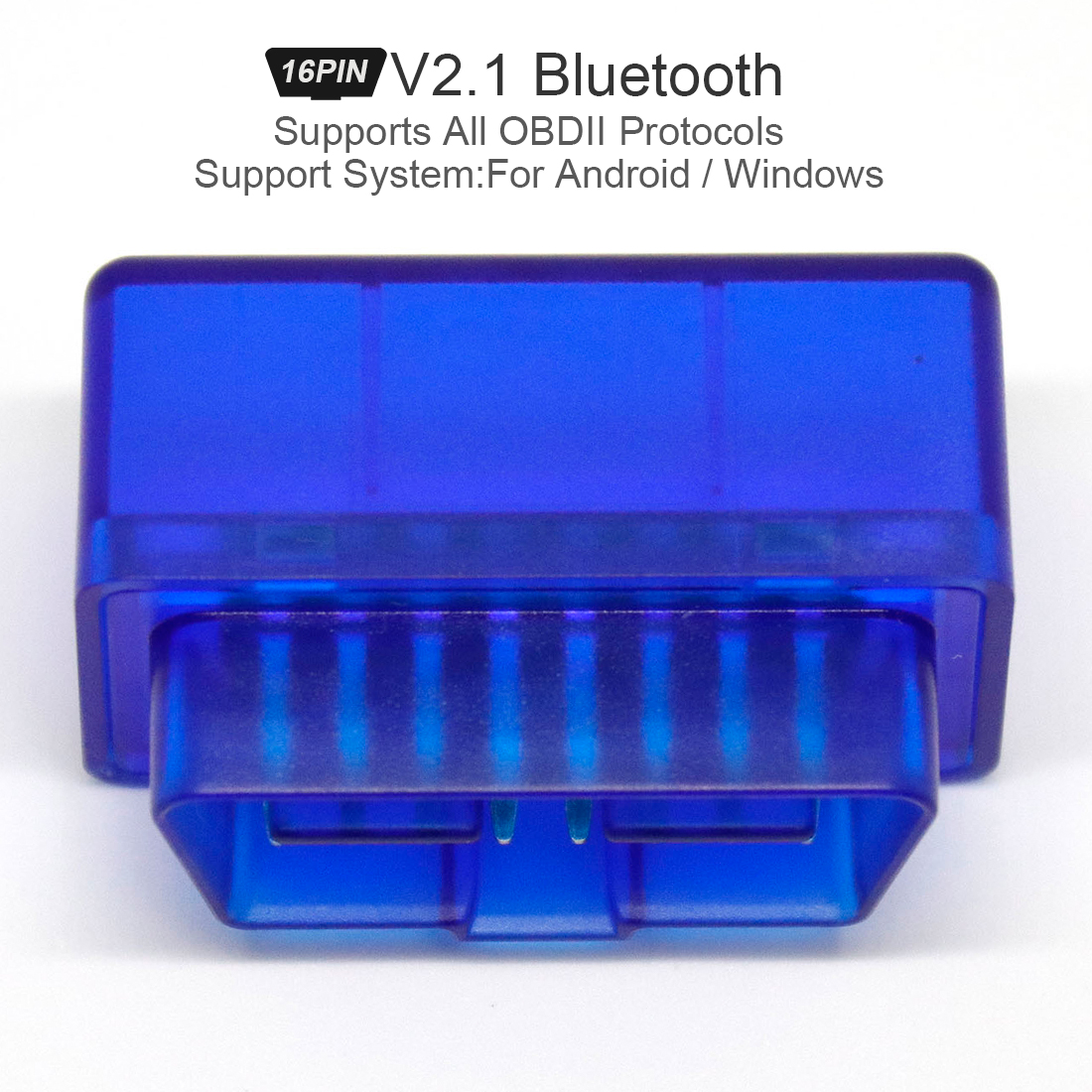 For Android Windows Fit for ELM327 V2.1 V1.5 obd2 Scanner automotivo Bluetooth Car Diagnostic Tool <font><b>OBD</b></font> 2 escaner automotriz <font><b>Vag</b></font> image
