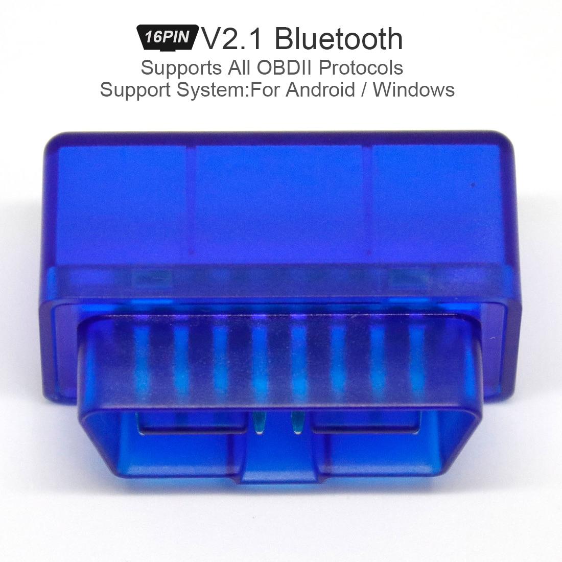 For Android Windows Fit for ELM327 V2.1 V1.5 obd2 Scanner automotivo Bluetooth Car Diagnostic Tool OBD 2 escaner automotriz Vag