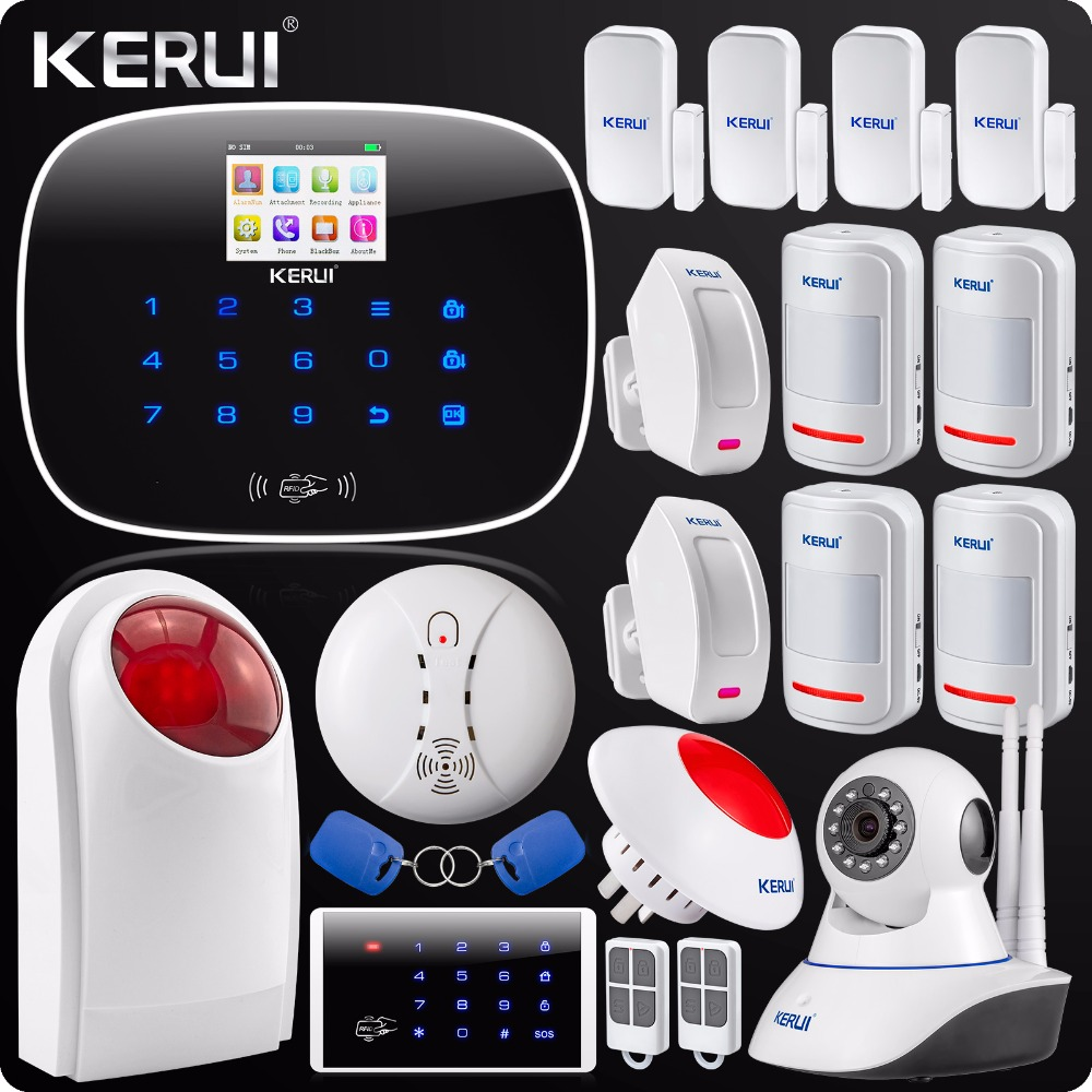 Wireless GSM SMS Home Alarm System Security Burglar Alarm System English/Russian Voice N62 Wifi IP Camera Outdoor Flash Siren yobangsecurity touch keypad wireless wifi gsm home security burglar alarm system wireless siren wifi ip camera smoke detector