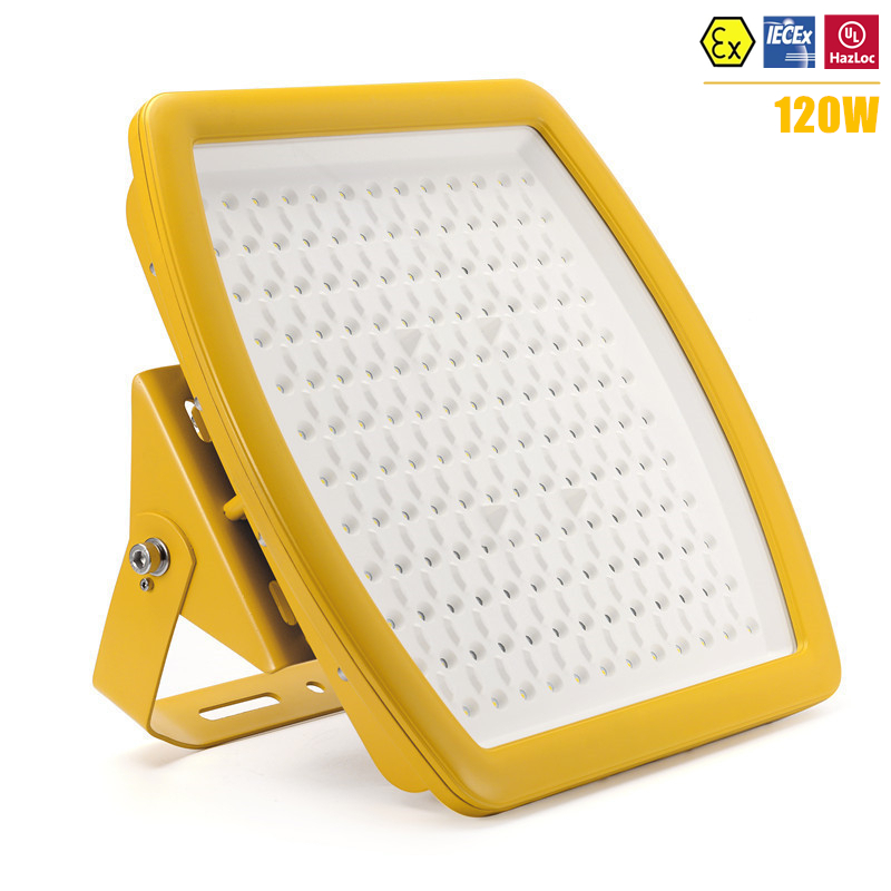 ATEX UL IECEx Certified Explosion Proof LED Light 120w High Bay Flood IP67 AC110V 220V 240V DLC 120W LED Anti Explosive Light