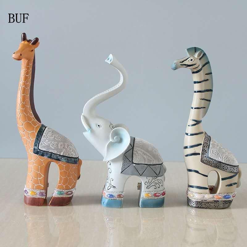 BUF Resin Animal Statue Home Decoration Deer Mascot