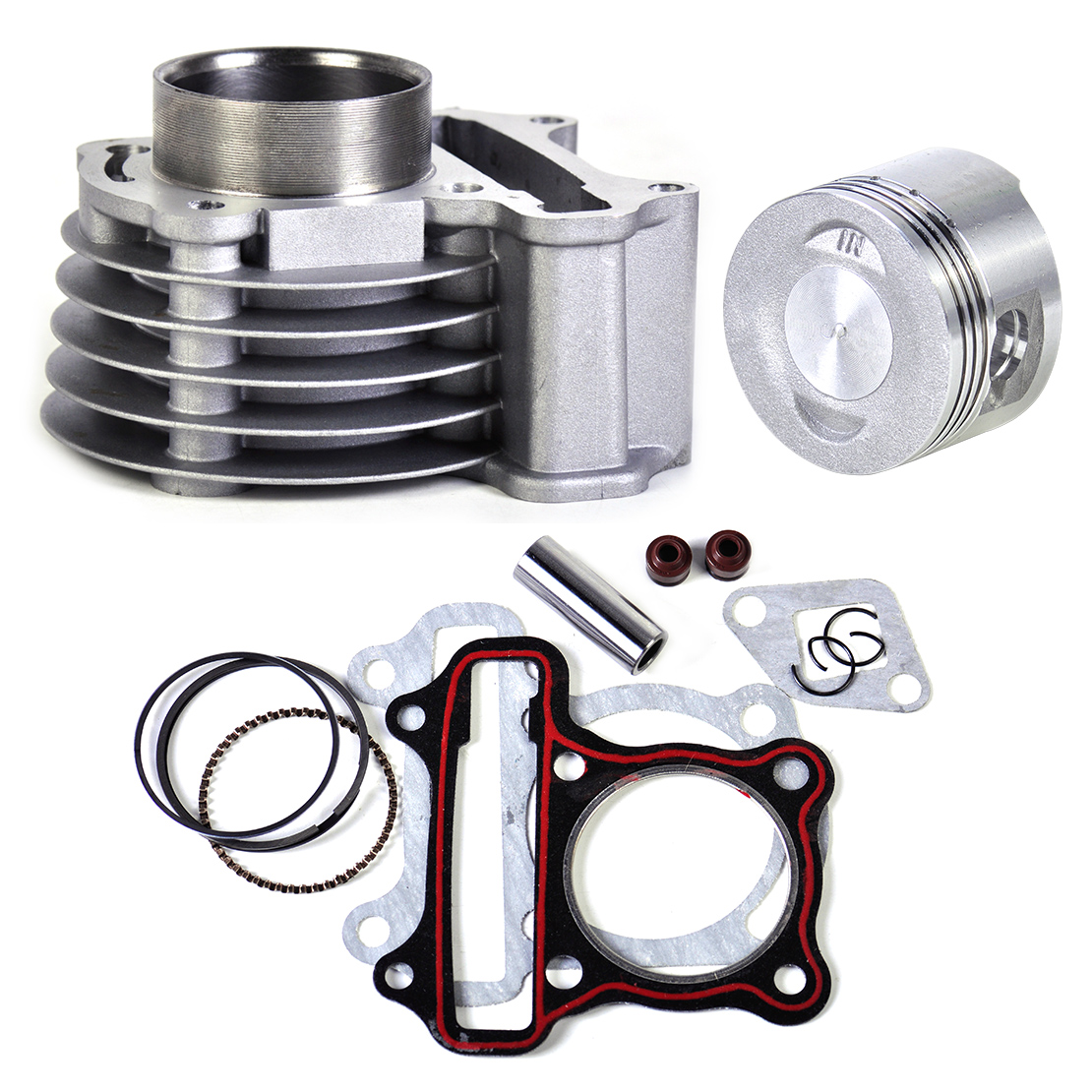 New Set 47mm Big Bore Kit Cylinder Piston Rings fit for GY6 50cc to 80cc 4 Stroke Scooter Moped ATV with 139QMB 139QMA engine