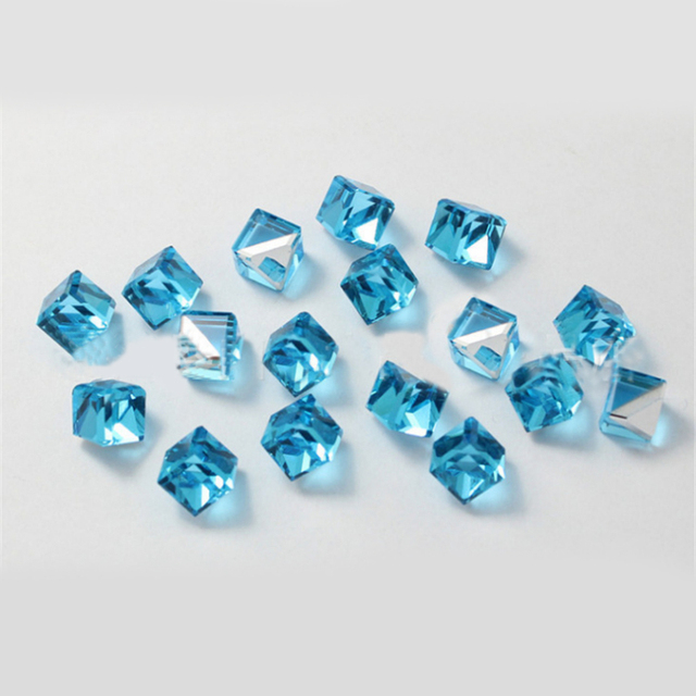 3D Cubo De Cristal Rhinestone Perline Strass Nail Art AB Diseño ...
