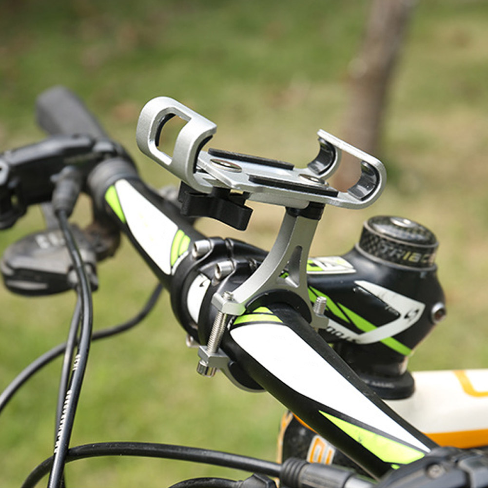 Hot Bike Phone Holder Stand Aluminum Alloy Universal Bicycle MTB Handlebar GPS Mount DO2 in Bicycle Rack from Sports Entertainment