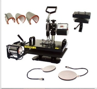 plate size:38x 38cm 8 in 1 combo heat transfer machine heat transfer machine For Plate/Mug/Cap/TShirt /Phone case