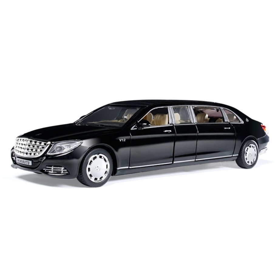 Simulation Hot stretch benz s650 1:32 scale wheel Maybach metal model pull back alloy toys with light and sound collection