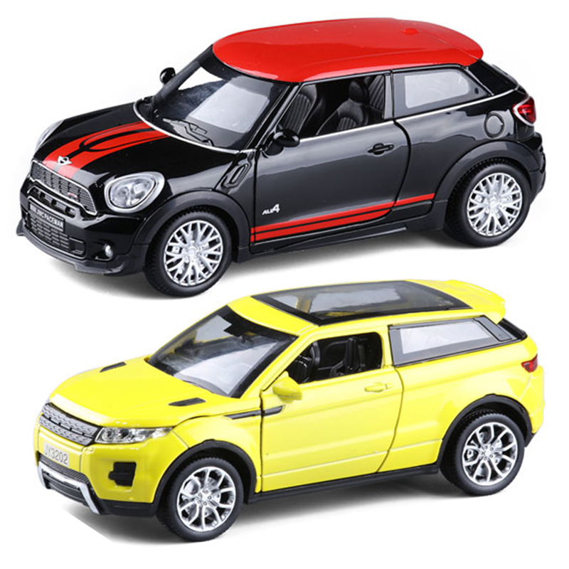 1:32 Metal Model Car Kids Toy Vehicles for children hot wheels train steering-wheel SUV Mini Paceman Evoque