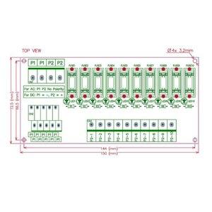 Image 2 - Placa de módulo de fusible de distribución de energía de 10 posiciones de montaje en Panel, para AC/DC 5 ~ 32V.