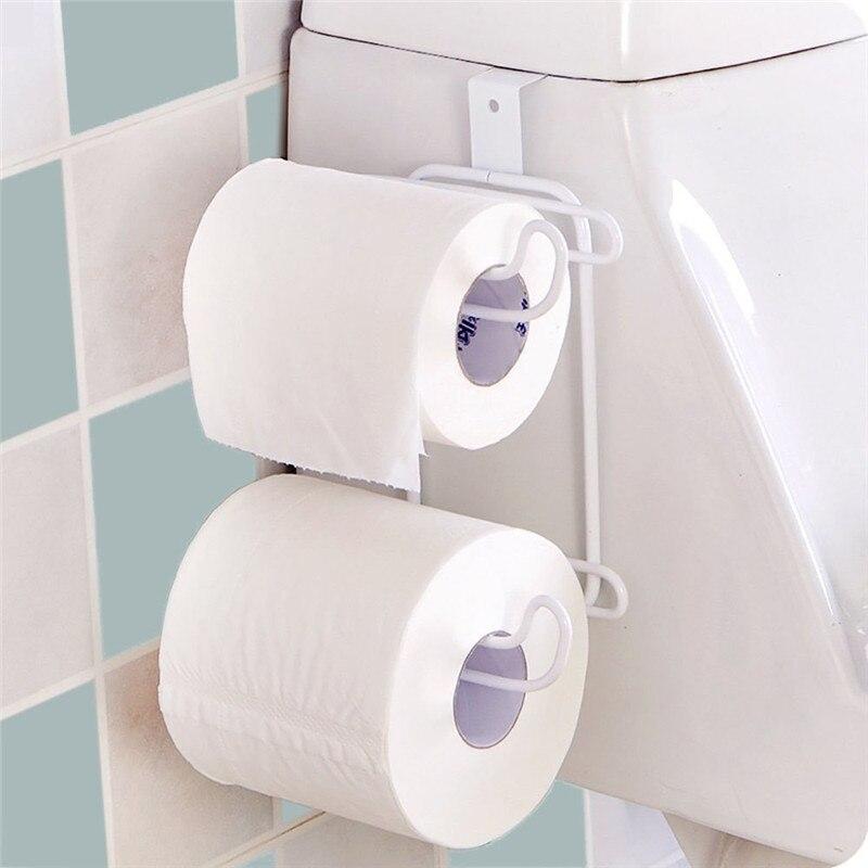 Comprar Colgante higiénico titular de papel WC papel rollos papel titular cocina baño rollo de papel higiénico de Soportes para papel fiable proveedores en Suzhou Style