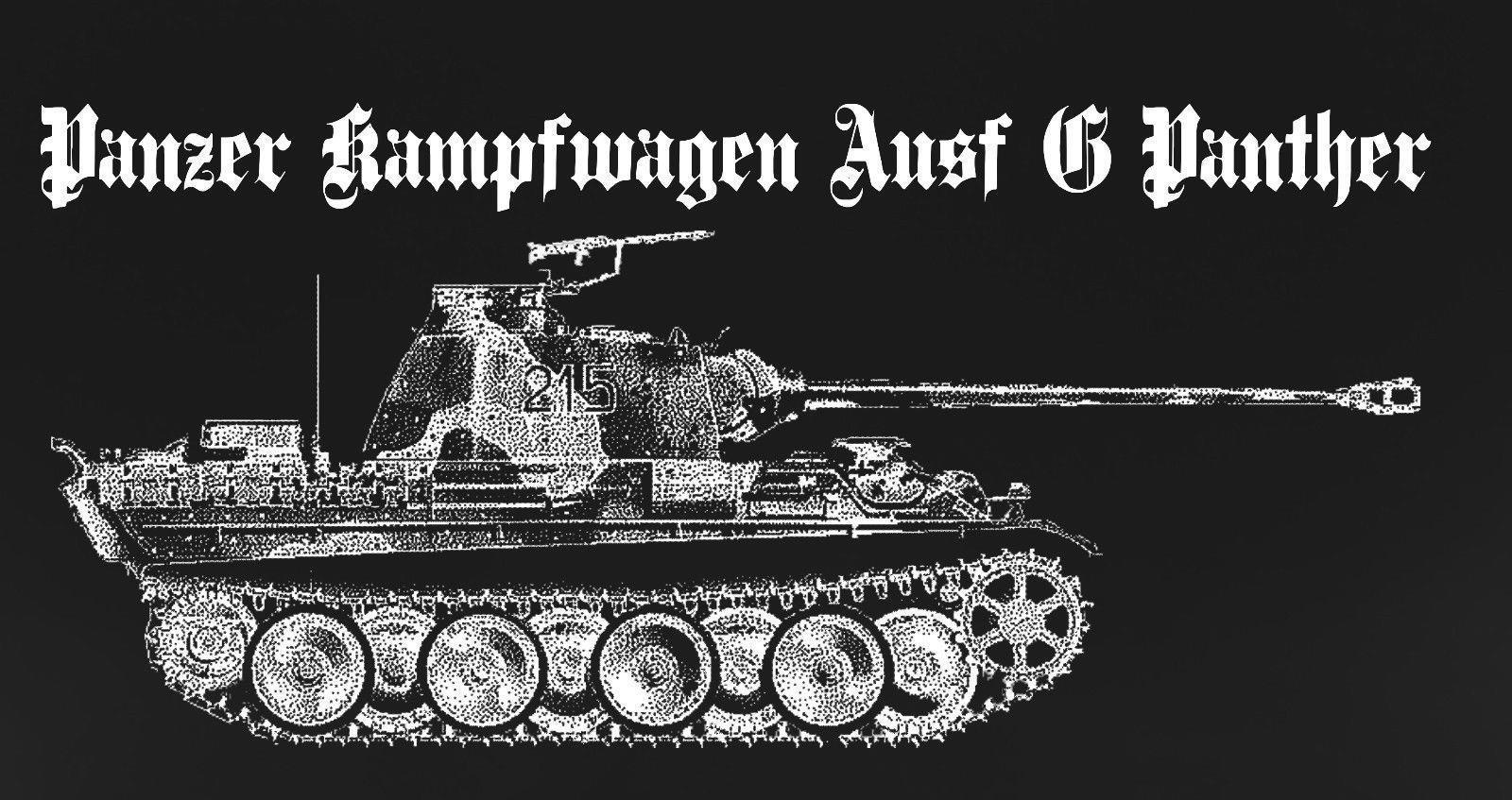 US $12 06 5% OFF|2019 Summer Hot Sale Men T shirt Panther Tank T shirt  Panzer WWII WW2 German Werhmacht Waffen ASL FURY-in T-Shirts from Men's