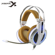 Xiberia X11 Gaming Headset Stereo Deep Bass Game Headphones with Vibration Function/Microphone Mic/LED Light for Computer Gamer