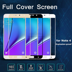 Image 1 - Colorful Tempered Glass for Samsung Galaxy Note 5 Note 4 Note 2 Full Coverage 9H Anti Explosion Screen Protector Toughened Glass