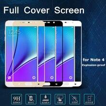Vidrio Templado colorido para Samsung Galaxy Note 5 Note 4 Note 2 cobertura completa 9H Protector de pantalla Anti explosión Vidrio Templado