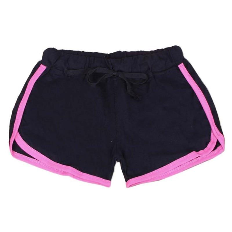 2018 New Women Sports Yo Ga Shorts Loose Cotton Binding Side Split Elastic  Waist Drawstring Running Short Pants Z1-in Yoga Shorts from Sports ... d3f9c461cb