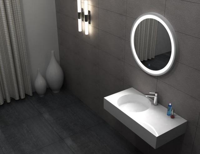 Solid Surface Badkamer : Badkamer rechthoekige muur gehangen wassen sink matt solid surface