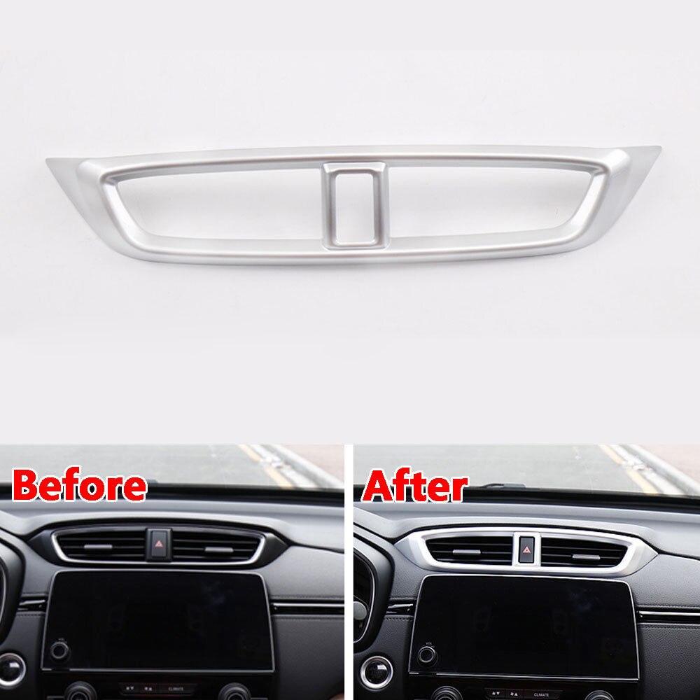 For Honda CRV CR-V 2017 2018 Center Console Air Conditioning Vent Cover Trim Chrome A/C Outlet Frame Decor Molding Car Styling
