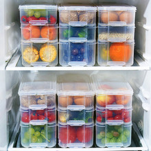 Multi-layer Refrigeration Storage Box Save Space Kitchen Organizer Noodle Dumpling Whole Grains Classification Food  Tool save grains saves life