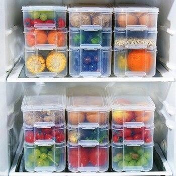 Multi-layer Refrigeration Storage Box Save Space Kitchen Organizer Noodle Dumpling Whole Grains Classification Food  Tool save grains saves life