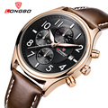 LONGBO Luxury Brand Men Leather Watch Sports Quartz Watches For Men Male Casual Clock Military Watch Relogio Masculino 80173