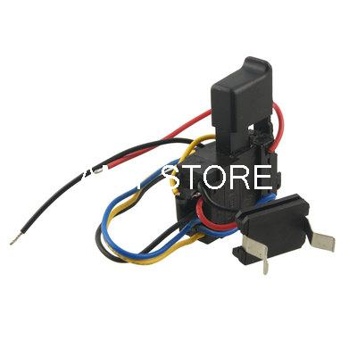 Black Replacement Electric Drill Tools Charge Speed Control Switch 7.2-24V DC 12A цена